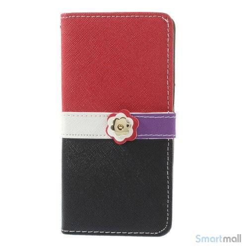 Feminin pung til iPhone 6 med mange praktiske detaljer - Roed - Sort5