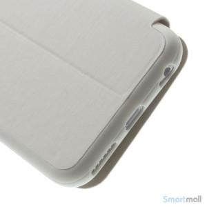 Flipcover til iPhone 6, udfoert i laeder med vindue og standfunktion - Hvid6
