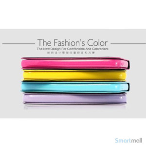 HELLO DEERE flip-cover til iPhone 5 - 5s, laeder med standfunktion - Lilla3