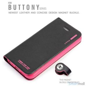 HELLO DEERE flip-cover til iPhone 5 - 5s, laeder med standfunktion - Rose4