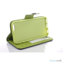 Ioejnefaldende laeder-pung til iPhone 6 med ekstra lommer - Gul - Groen5