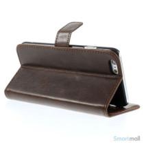 Klassisk laederpung til iPhone 6 med plads til tre kreditkort - Kaffe5