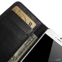 Klassisk laederpung til iPhone 6 med plads til tre kreditkort - Sort7