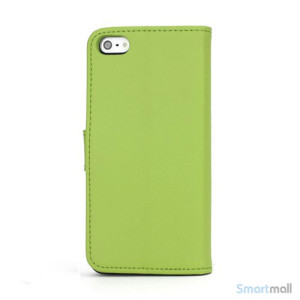 Klassisk pung i aegte laeder til iPhone 5 og 5s - Groen2