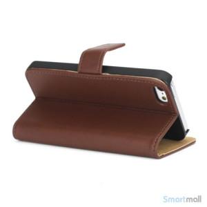 Klassisk pung i aegte laeder til iPhone 5 og 5s - Kaffe4
