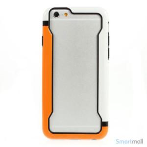 Laekker bumper til iPhone 6, udfoert i hybrid-plast - Orange - Hvid2
