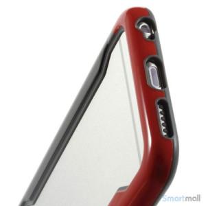 Laekker bumper til iPhone 6, udfoert i hybrid-plast - Rød-Sort6