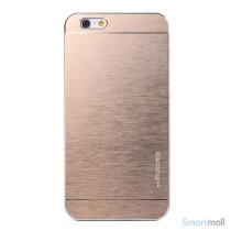 MOTOMO cover til iPhone 6 i slidstaerkt boerstet aluminium - Champagne