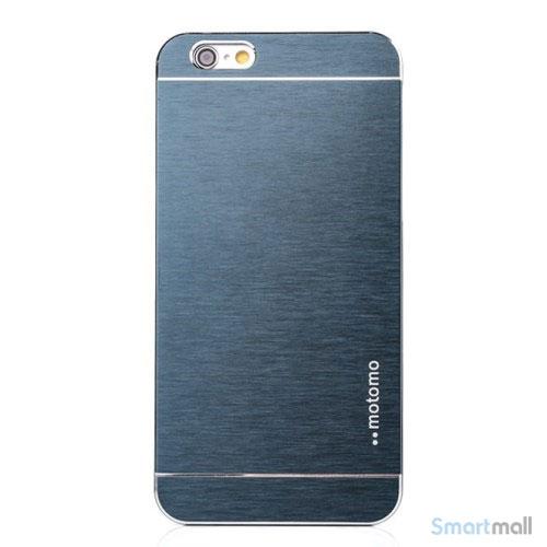 MOTOMO cover til iPhone 6 i slidstaerkt boerstet aluminium - Moerkeblaa