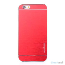 MOTOMO cover til iPhone 6/6Si slidstærkt børstet aluminium - Rød