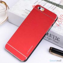 MOTOMO cover til iPhone 6 i slidstaerkt boerstet aluminium - Roed2