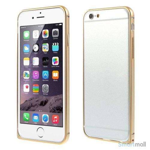 Metalbumper til iPhone-6, forberedt til noeglering mv-Guld