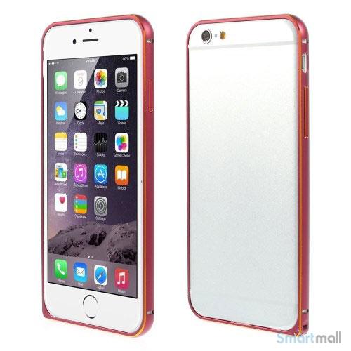 Metalbumper til iPhone 6, forberedt til noeglering mv- Rosa