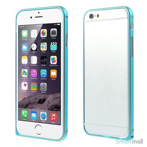 Metalbumper til iPhone 6, forberedt til noeglering mv- blaa