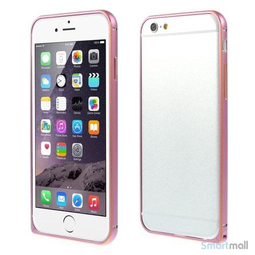 Metalbumper til iPhone 6, forberedt til noeglering mv. - Pink