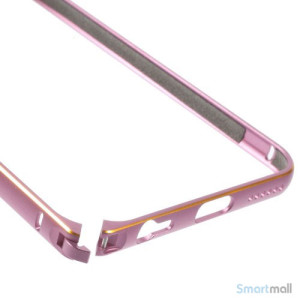 Metalbumper til iPhone 6, forberedt til noeglering mv. - Pink7
