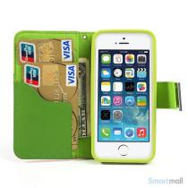 Multifarvet pung til iPhone 5 og iPhone 5s - Cyan - Sort - Groen6