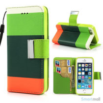 multifarvet-pung-til-iphone-5-og-iphone-5s-groen-moerk-groen-orange