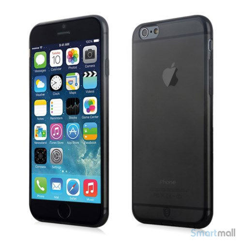 Original Baseus cover til iPhone 6 i let og luftigt design - Gennemsigtig-Graa