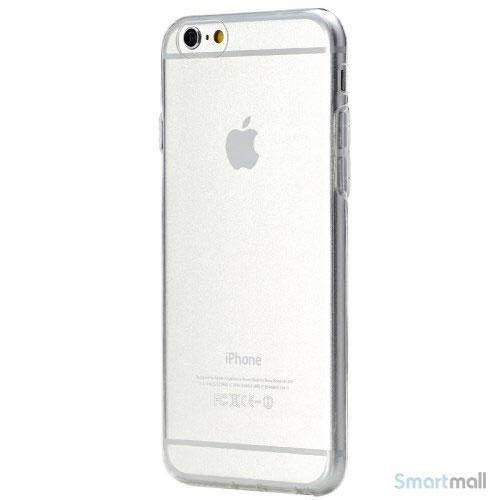 Original ROCK cover til iPhone 6, ultra tynd letvaegtsudgave - Gennemsigtig