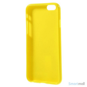 Polkaprikket cover til iPhone 6 i laekker bloed TPU-plast - Hvid - Gul4