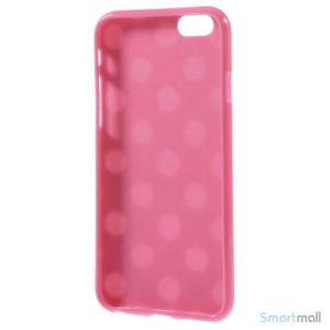 Polkaprikket cover til iPhone 6 i laekker bloed TPU-plast - Hvid - Rose4