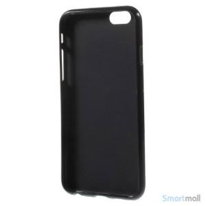 Polkaprikket cover til iPhone 6 i laekker bloed TPU-plast - Sort - Hvid5
