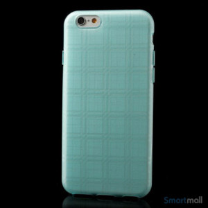 Praktisk iPhone 6 cover i laekker bloed gummi-plast - Baby blaa2