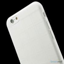 Praktisk iPhone 6 cover i laekker bloed gummi-plast - Gennemsigtig6