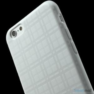 Praktisk iPhone 6 cover i laekker bloed gummi-plast - Hvid6
