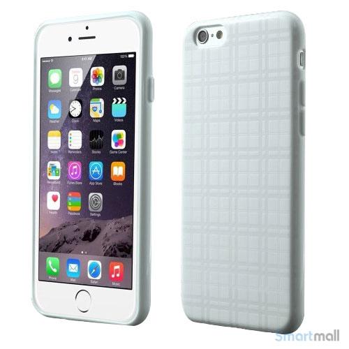 Praktisk iPhone 6 cover i laekker bloed gummi-plast - Hvid7