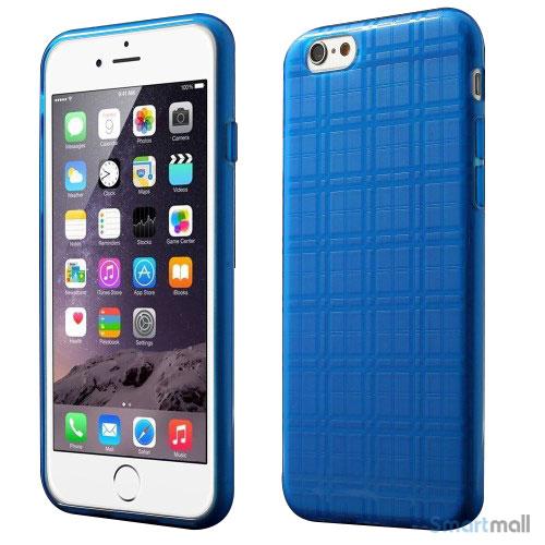 Praktisk iPhone 6 cover i laekker bloed gummi-plast - Moerkeblaa7