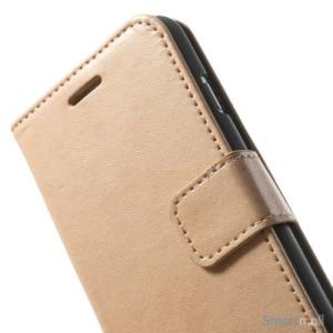 Robust iPhone 6 laederpung med kreditkortholder og lomme - Champagne7