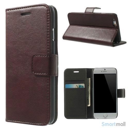 Robust iPhone 6 laederpung med kreditkortholder og lomme - Kaffe2