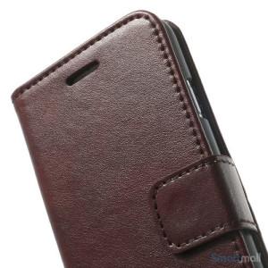 Robust iPhone 6 laederpung med kreditkortholder og lomme - Kaffe7
