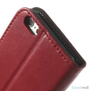 Robust iPhone 6 laederpung med kreditkortholder og lomme - Roed7