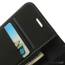 Robust iPhone 6 laederpung med kreditkortholder og lomme - Sort7