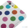 Sjovt polka-prikket cover til iPhone 6, udfoert i bloed TPU-plast - Farverige-Hvid5