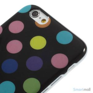 Sjovt-polka-prikket-cover-til-iPhone-6,-udfoert-i-bloed-TPU-plast Farverige-Sort5