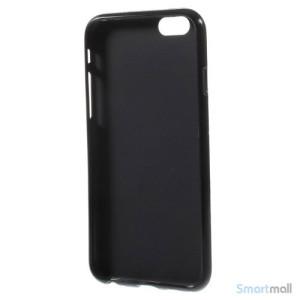Sjovt polka prikket cover til iPhone 6, udfoert i bloed TPU plast Lilla-Sort4