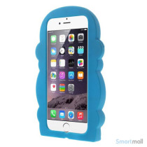 Soedt abe-cover til iPhone 66S, udfoert i bloed silicone - Blaa