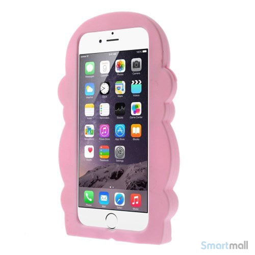 Soedt abe-cover til iPhone 66S, udfoert i bloed silicone - Pink