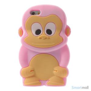 Soedt abe-cover til iPhone 66S, udfoert i bloed silicone - Pink2
