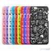Soedt cover til iPhone 6, dekoreret med smaa cartoons - Moerkeblaa5