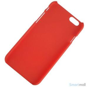 Soedt cover til iPhone 6, dekoreret med smaa cartoons - Roed2