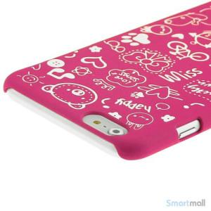 Soedt cover til iPhone 6, dekoreret med smaa cartoons - Rose4