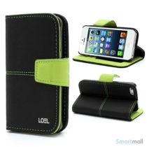 sort-laederpung-med-smarte-detaljer-til-iphone-5-og-5s-sort-groen
