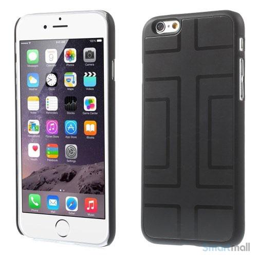 Spaendende iPhone 6 cover med dekoreret metalbagside - Geometrisk Figur