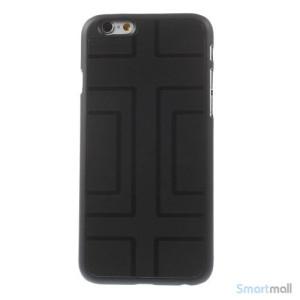 Spaendende iPhone 6 cover med dekoreret metalbagside - Geometrisk Figur2