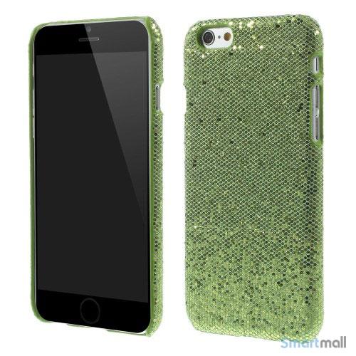 Spaendende laeder-cover til iPhone 6, med paillet-effekt - Groen